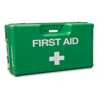 British Standard compliant first aid kits, replacement tapes and adhesives.