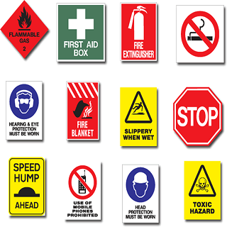Safety signs should meet government regulations for construction, building safety, warehouses, office and work places.
